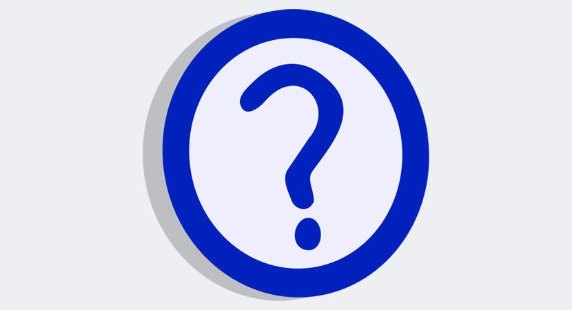 Blue Question Mark Inside Circle