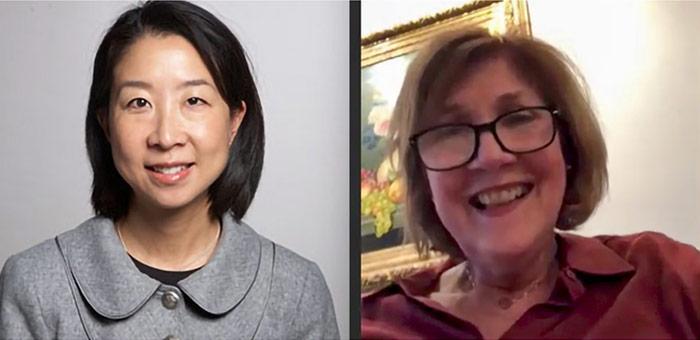 Headshots Of Audrey Chun And Sheila Barton