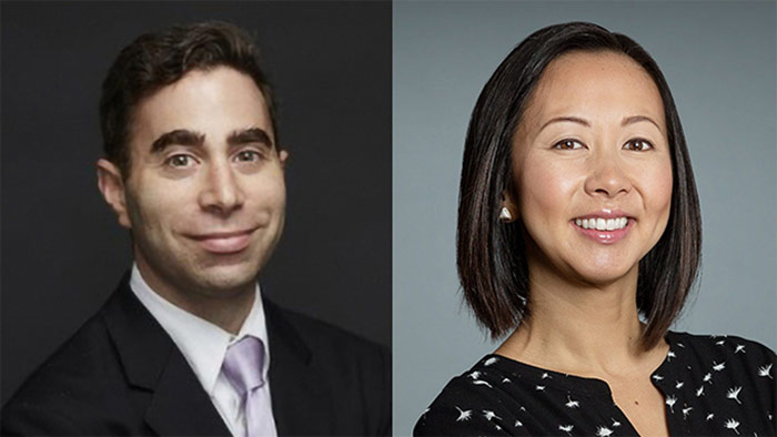 Headshots Of Ab Brody And Audrey Tan