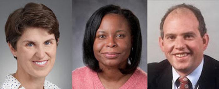 Headshots Of Sarah Berry, Kimberly Johnson, And David Gifford