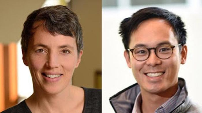 Headshots Of Sarah Szanton And Kenny Lam