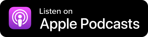 Apple Podcasts Button - Black Background With Icon And White Sans-serif Type