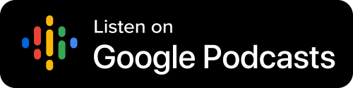 Google Podcasts Button - Black Background With Icon And White Sans-serif Type