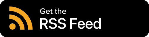 RSS Button - Black Background With Icon And White Sans-serif Type