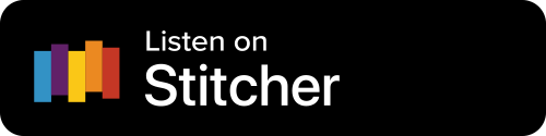 Stitcher Button - Black Background With Icon And White Sans-serif Type