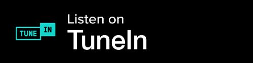TuneIn Button - Black Background With Icon And White Sans-serif Type