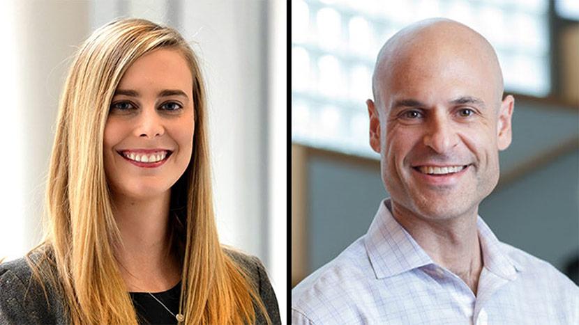 Headshots Of Jenny Blumenthal-Barby And Scott Halpern