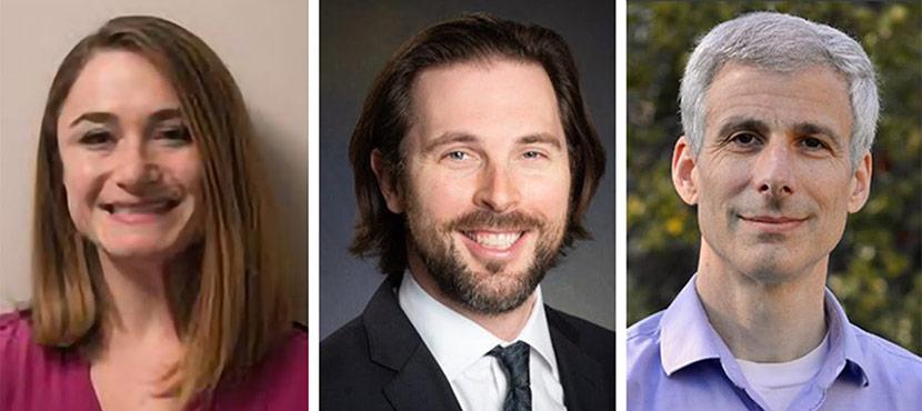 Headshots Of Anna Parks, Matthew Growdon, And Mike Steinman