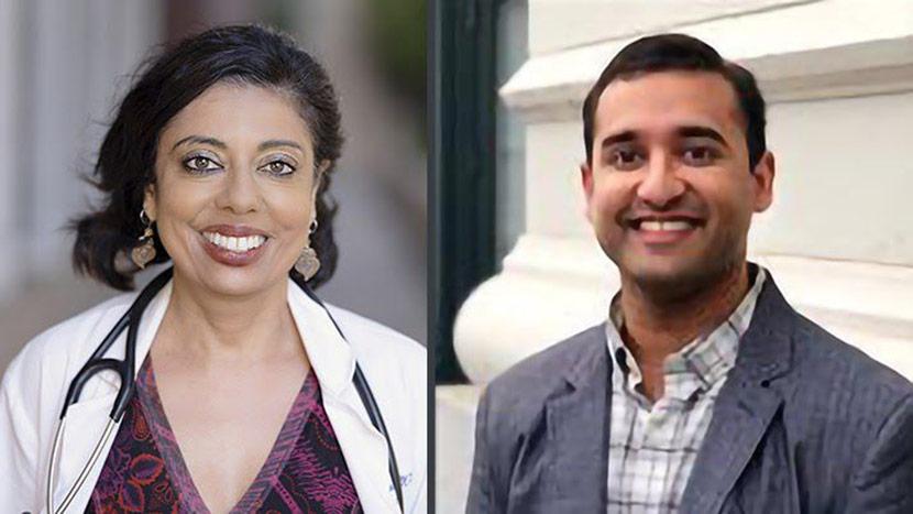 Headshots Of Monica Gandhi And Ashwin Kotwal